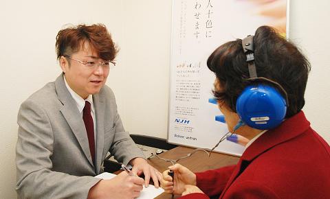 聴力測定の様子